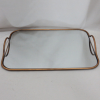 brass cheap price rectangle vintage tray for indoor living room