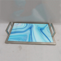 Marble Rectangle Serving Tray With Handle