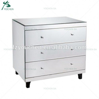 Mirrored Bedroom Chest of Drawers 3 Large Storage Drawers