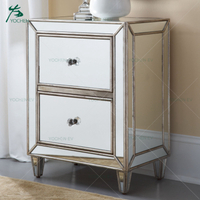 antique Gold Trim Small Bedside Table