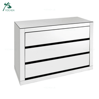Furniture cabinet wooden modern vanity 3 drawers mirrored cabinet