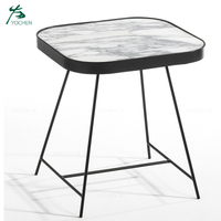 Luxury living room furniture marble side table