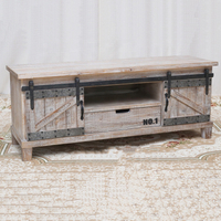 Wholesale Antique Rustic Industrial Wood TV Stand Furniture