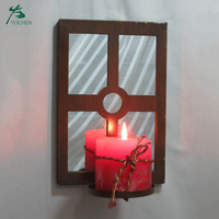 decorative wooden candle holder hang candle holder stand