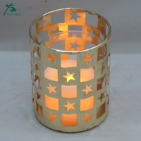 Home Decorations Candle Lamp Lantern Gold Tealight Candle Holder