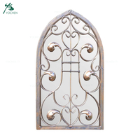 Large Outdoor Arch Ornate Garden Wall Mirror 40cm X 24cm Size