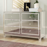 living room wooden mirrored sideboard