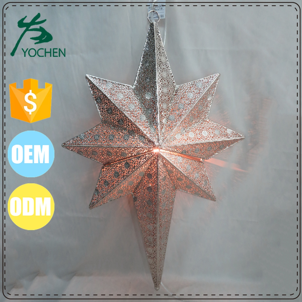 moroccan star christmas wed lantern in metal
