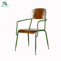 Modern industrial outdoor garden antique metal chair