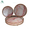 glass and metal material decorative serving trays for wedding