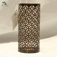 Christmas modern black tall metal candle holders