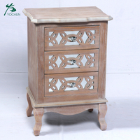 vintage home furniture solid wood carving mirror cabinet