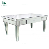 Modern antique mirrored glass coffee table sofa center table