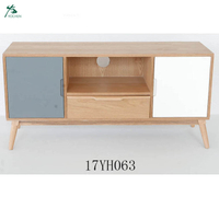 Modern Style Wooden Large Storage TV Stand With Pine Legs