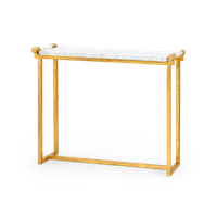 Living room furniture gold leaf metal table console table