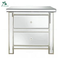 Mirrored bedroom furniture silver mirrored nightstand bedside cabinet