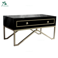 living room furniture mdf mirrored coffee table