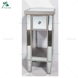 bedroom furniture mirrored 1 drawers night stand