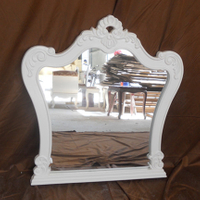 wood antique mirror frame with design