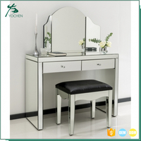 console table with mirror venetian mirrored glass dressing table