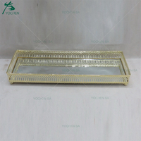 Home Design Gold Plating Wedding Decor Serving Tray