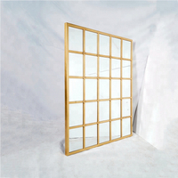 Gold metal frame window wall mirror decorative
