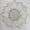 Sun flower shape design decorative metal frame wall decoration mirror