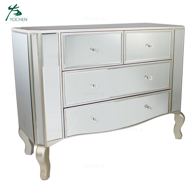 Home Furniture Living Room Cabinet mirrored chest of drawers