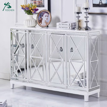 Modern console cabinet living room mirror shoe cabinet