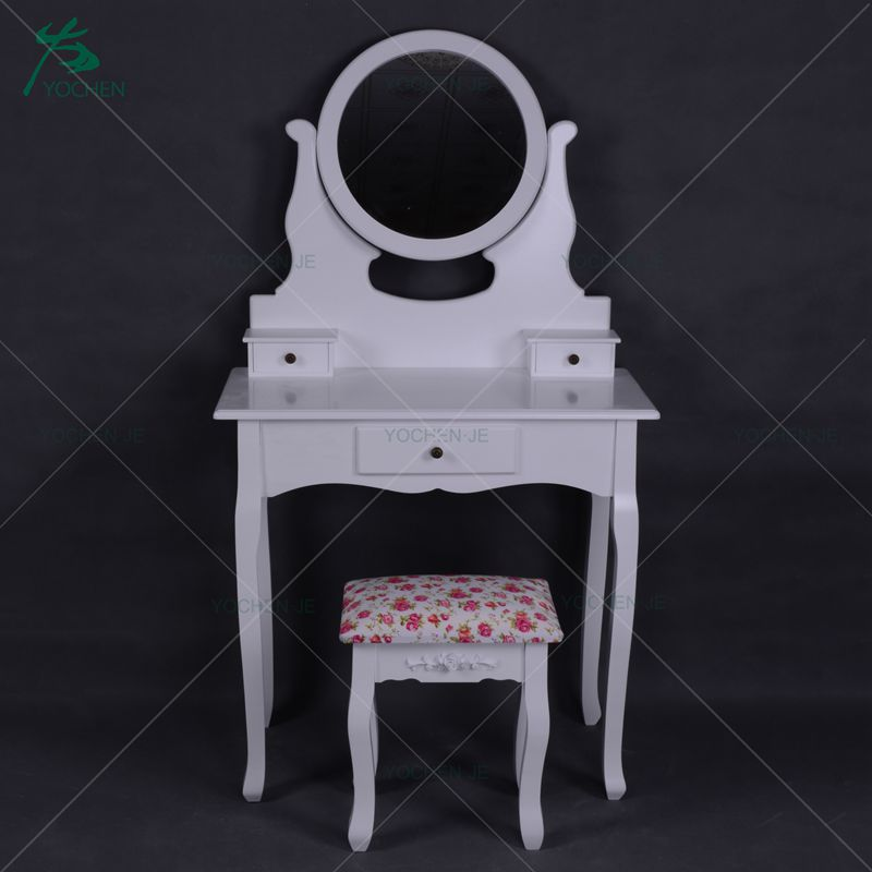 Vanity wooden dressing table white dresser furniture bedroom