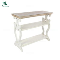 Living Room Antique Classic White Hallway Wooden Console Table