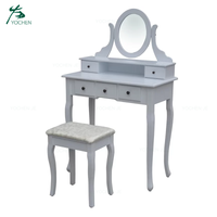 Bedroom makeup furniture vanity wooden dressing table