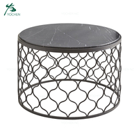 living room marble metal coffee table modern accent furniture