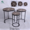 living room nest table antique rustic solid wood coffee table