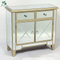 2 door mirrored cabinet wooden chest drawer furniture