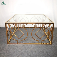 Italian fashion design living room furniture modern center table with mirror rose gold