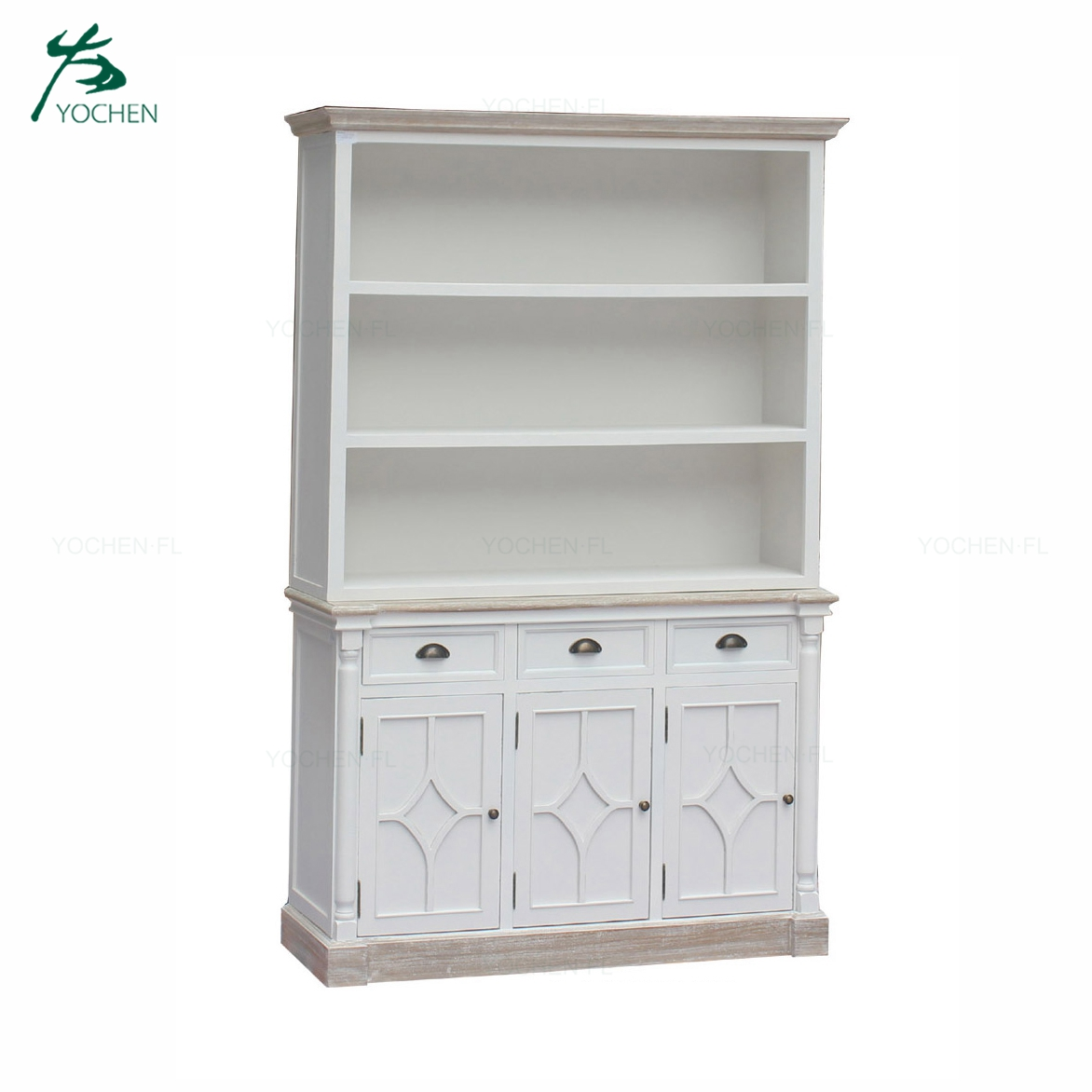 living room furniture noble white wood made display cabinet