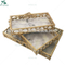 Wholesale wedding decorative glass metal mirror tray