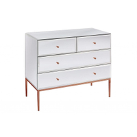 Rose gold Stainless Steel Mirror Chest of Drawers mirrored furniture