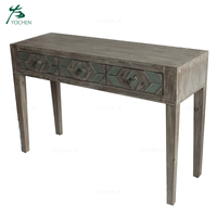 wood mirrored hallway modern console table furniture