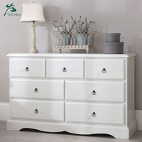 Modern home furniture white three tiers living room wooden cabinet with drawers