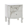 Natural wood washed 2 drawer bedside chest bedroom nightstand