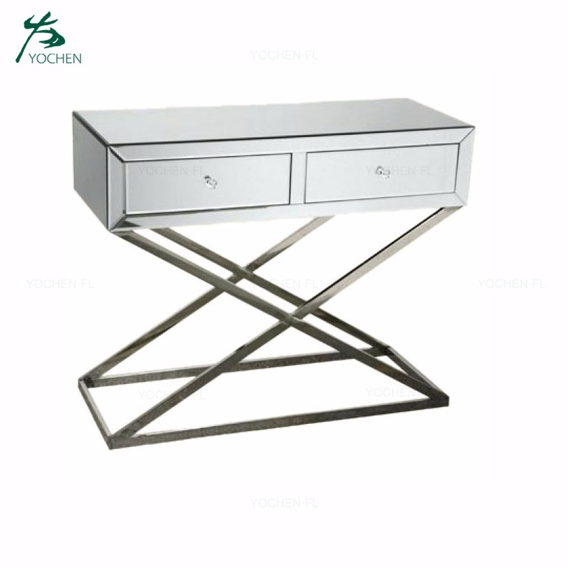 whole clear modern glass console table