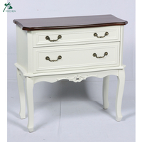 Wooden Chest of Drawers in White 2 Drawer