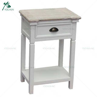 accent furniture wooden cabinet bedside table with drawer