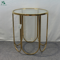 Cheap Price Glass Top Gold Metal Center Table Design Coffee Table Living Room