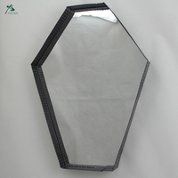 Metal framed decorative wall mirror with black frame