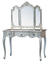 Vintage Vanity Dresser Table with Folding Mirror