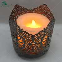 Factory wholesale decorative flower metal branch candle holder