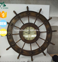 Beach Steering Metal Wall Clock Wall Decors